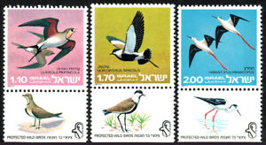 1975 Price Remains Stable Mnh Israel 577-579 Tabs Protected Birds