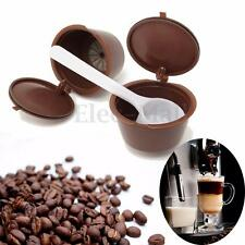 2 pack Reusable Refillable Capsules For Dolce Gusto Brewers Reuse Refill Cup
