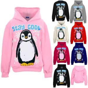 03dbb824 Children's Penguin Stay Cool Girls Hooded Pull Over Sweatshirt ...