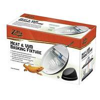 Zilla Reptile Terrarium Heat Lamps, Mini Halogen & Uvb Combo Fixture, New, Free