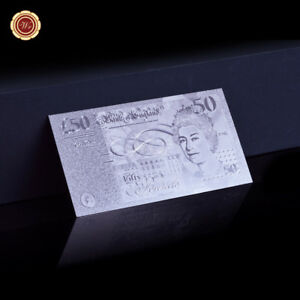 WR-Rare-British-50-Fifty-Pound-Note-999-Silver-Foil-Banknote-Bank-of-England