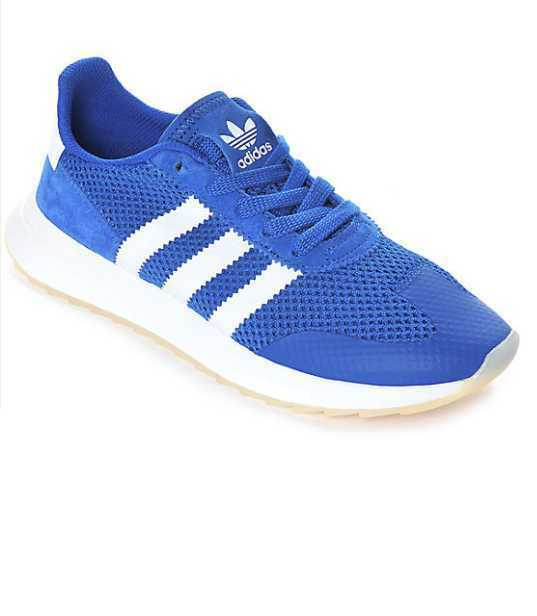 NEW WOMEN'S ALL SIZES ADIDAS FLB W FLASHBACK BLUE / WHITE SKATE SHOES BA7757