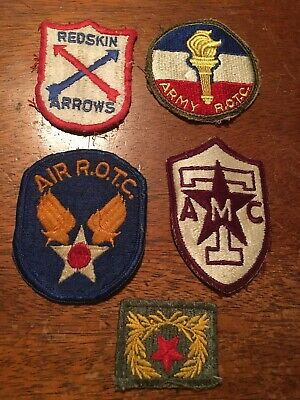 Dealer lot of 20 US Army ROTC School Color Patches
