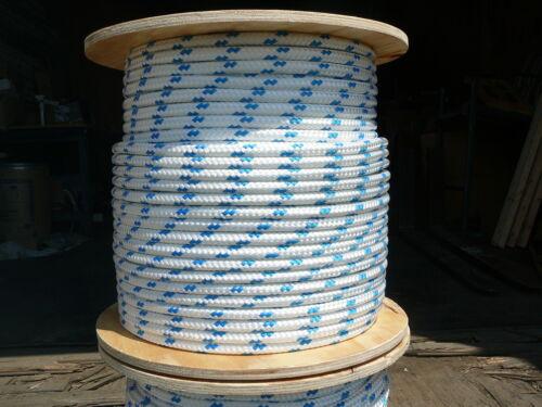 "NovaTech XLE Halyard Sheet Line Dacron Sailboat Rope 1//2/"" x 50/' White//Blue"