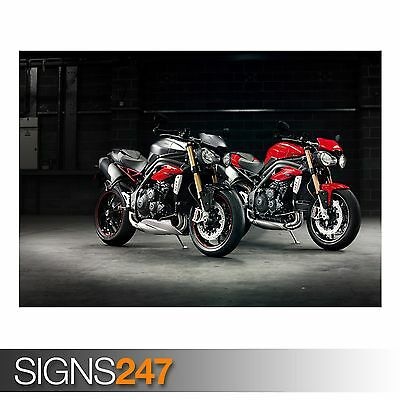 1768 2016 TRIUMPH SPEED TRIPLE R Photo Picture Poster Print Art A0 A1 A2 A3 A4