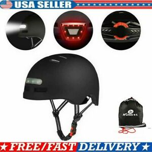 Bicycle Helmet Safety Cycling MTB Adult Mountain Road Bike LED Tail Light +Bag