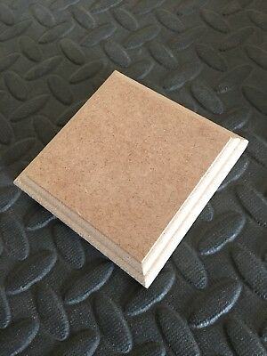 """1 PLAQUE WOODEN PLAQUES  5/"""" X 5/""""  SQUARE 18mm MDF blank wall signs plinths"""
