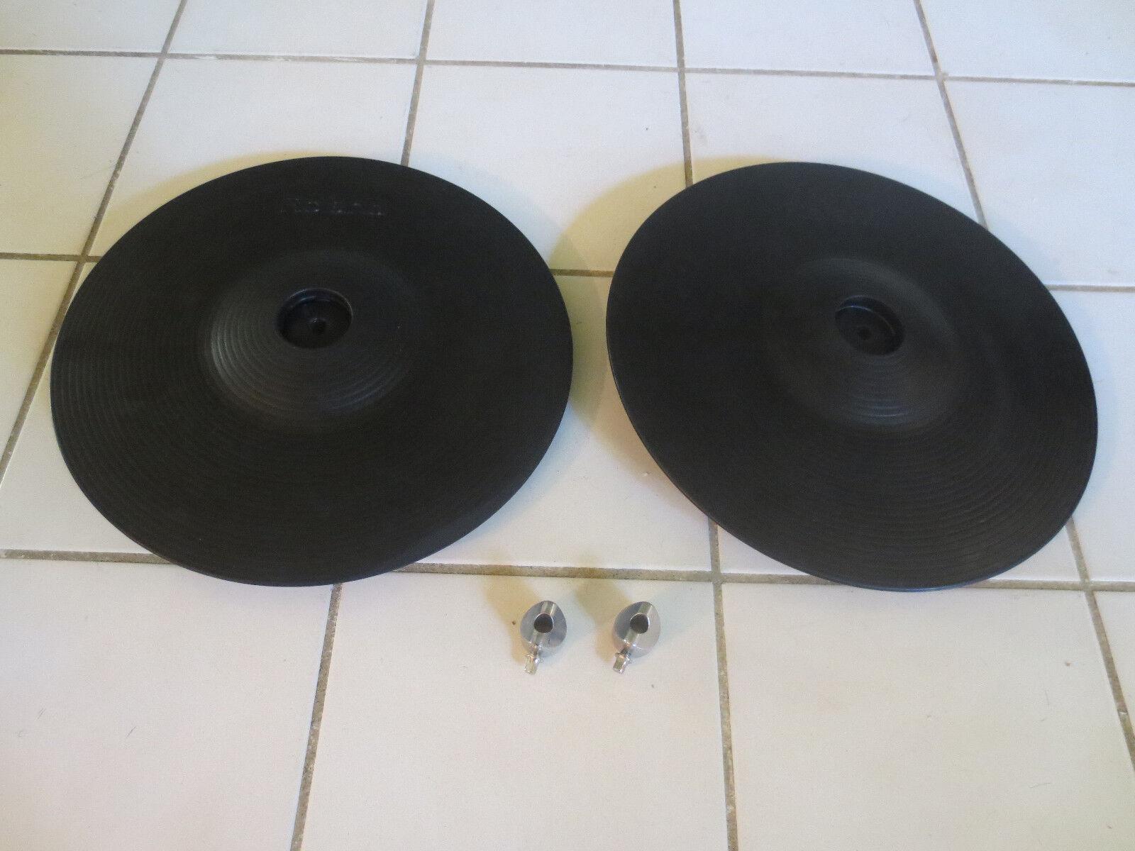 TWO Roland CY-12R C 3 Way Trigger V-Cymbal Crash Ride V-Drum w  Stopper 12 r c