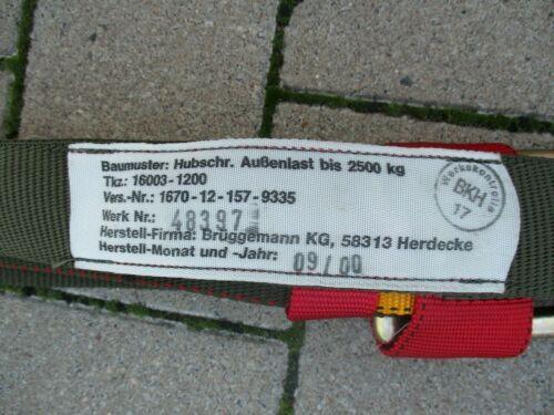 Hebegeschirr Krangehänge Brüggemann Bw Bund Hebekette 2,5 t Bergekette 4 Strang
