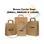 thumbnail 1 - Kraft Paper SOS Carrier Bags Brown with Flat Handles /Takeaway /Gifts Quick Post