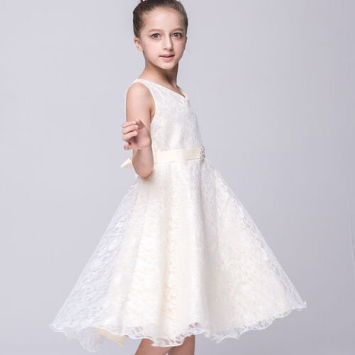 Flower Girls Princess Lace Tulle Tutu Dresses Formal Prom Wedding Party Pageant