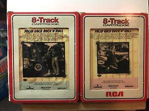 Solid-Gold-Rock-039-N-039-Roll-Volume-1-amp-2-2-x-8-Track-Cartridges-1972-Mercury
