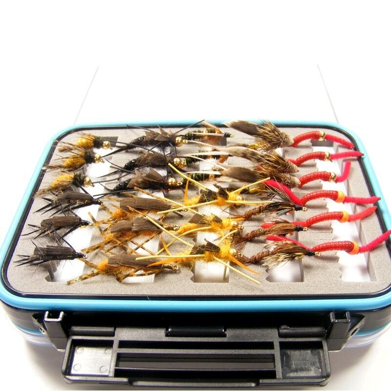 Fly Fishing Flies Ultimate Trout Fly Fly Fly Assortment 60 Flies and  Waterproof Fly Box 53709f