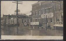 RP Postcard POMEROY,Ohio/OH  HARTWELL MINING CO STOREFRONT DURING FLOOD 1913