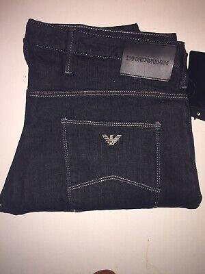 100% Vero Emporio Armani Jeans Denim Uomo. Nero, Taglia 36 Nuovo Con Etichette-mostra Il Titolo Originale Ampia Selezione;