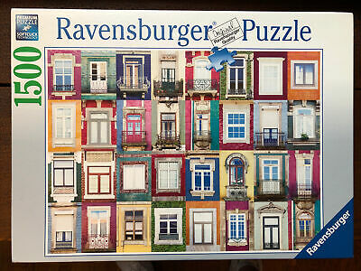 Ravensburger Portuguese Windows 1500 Pc 24X32 Inch Puzzle NEW Free Shipping