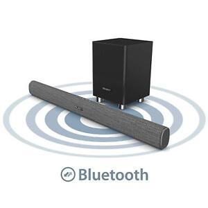 279d6d6f155 Majority 150W TV Sound Bar Wireless Subwoofer with Bluetooth Optical ...
