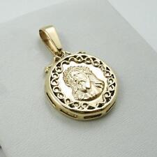 NEW! Solid 14K Yellow Gold Jesus Christ Face Portrait Pendant Medal, 4.8 grams