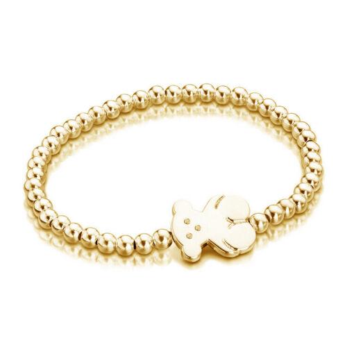 Cute Teddy Bear Bracelet 14K Or 5 mm Perle Bracelet Pour Femme Bijoux