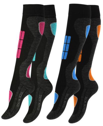 2 Paar Damen Skisocken Wintersport Socken Funktionssocken mit Spezial-Polsterung