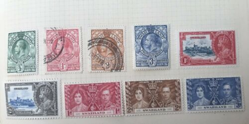 EARLY SWAZILAND USED UNUSED HINGED 28 STAMPS