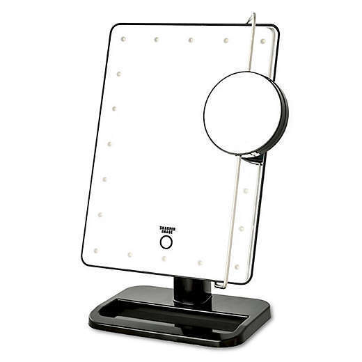 Sharper Image Makeup Mirror.Sharper Image Led Touch Mirror With Vanity Tray In White