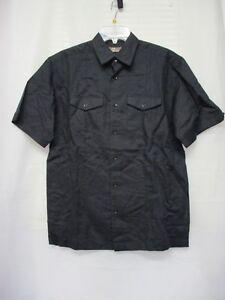 CAFE-LUNA-Men-039-s-Casual-Short-Sleeve-Button-Down-Shirt-Small-34-36-Black-NWT