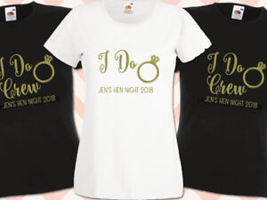 I-Do-Crew-Hen-Night-T-Shirts-Do-Party-Custom-Ladies-Printed-Personalised