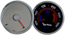 "2"" 52mm AC Autotechnic Invision Chrome Oil Temperature Temp Gauge Pod Meter"