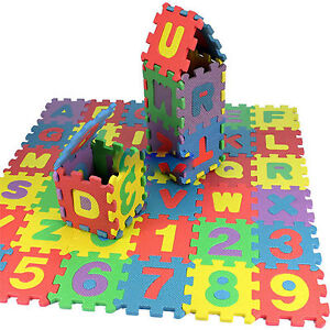 36 pcs Baby Kids Alphanumeric Educational Puzzle Blocks Infant Child Toy Gift JB