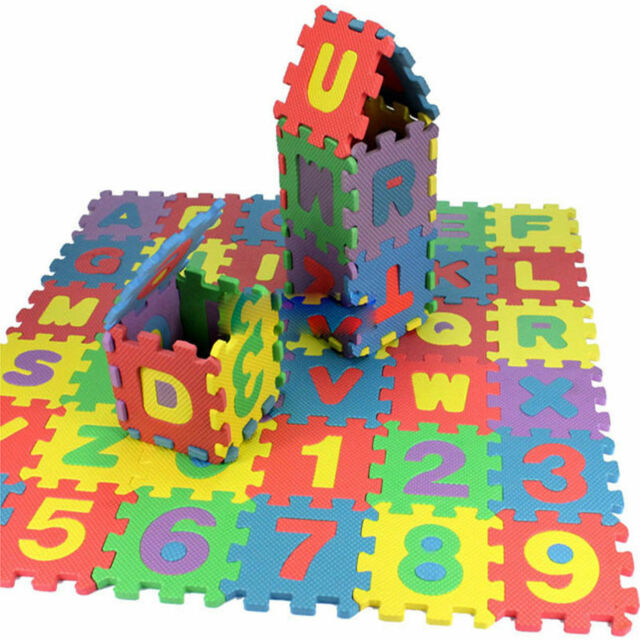 36 pcs Baby Kids Alphanumeric Educational Puzzle Blocks Infant Child Toy Gift##