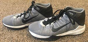6a03397fb305 La foto se está cargando Zapatos-de-baloncesto-Nike-Zoom-ascention -Juvenil-Gris-