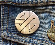 CRASS LOGO Pewter Pin Badge