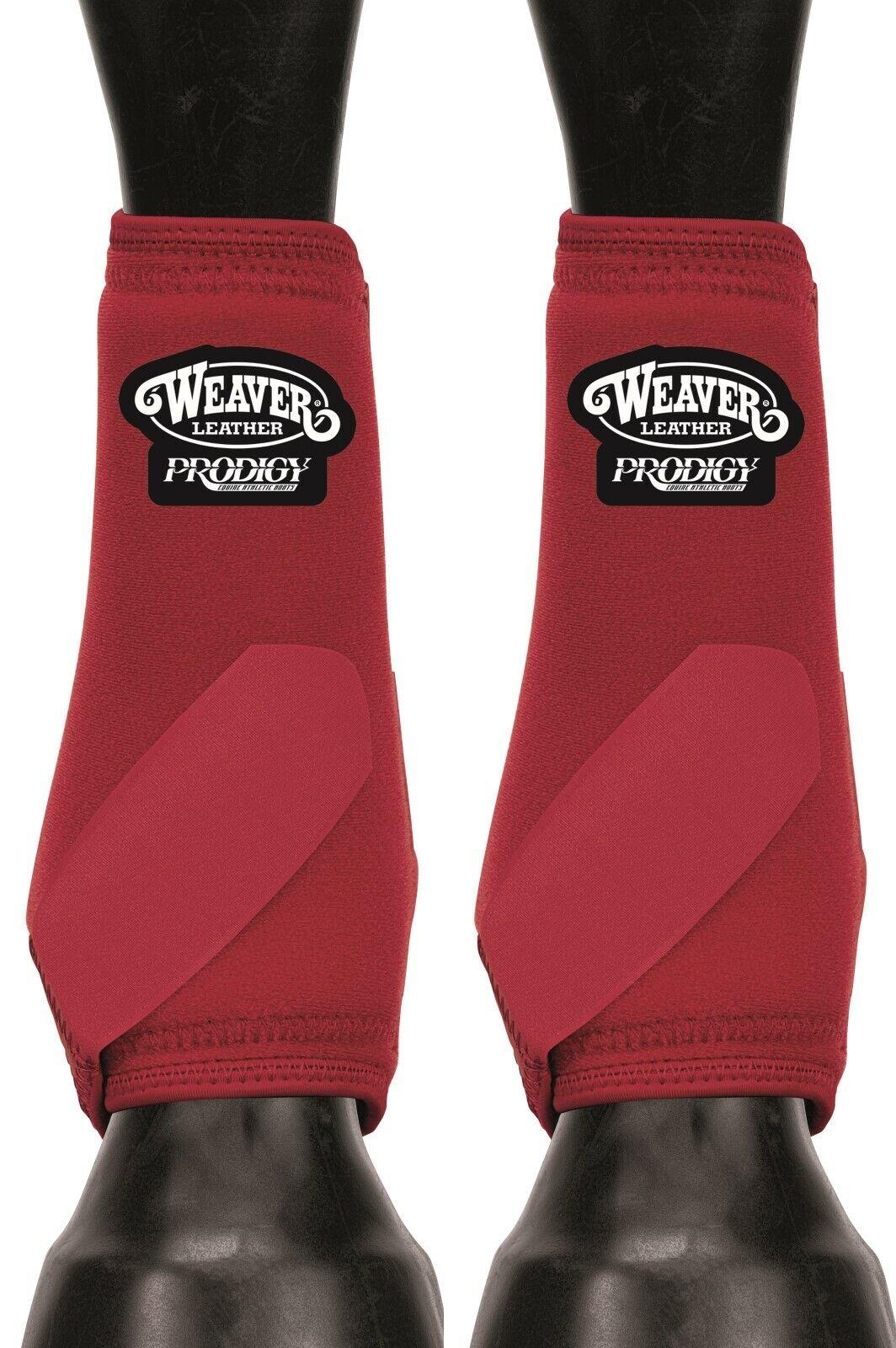Weaver Leather Equine Original prodigio Performance atlética pequeñas y medianas empresas botas 2 Pack Rojo