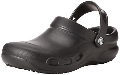 Neueste Kollektion Von Crocs Bistro Unisex Mens Womens Ladies Comfy Cushioned Croslite Work Clogs Black Hochwertige Materialien