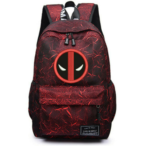 HOT The Avengers Venom Iron Man Casual Travelling Bag Backpack Knapsack Iron Man