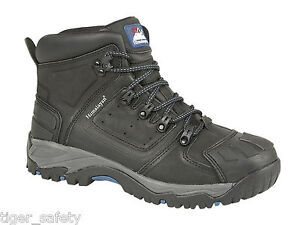 Himalayan 5206 S3 SRC Black Leather Steel Toe Cap Waterproof Safety Boots PPE