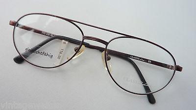 PüNktlich Klassische Herrenbrille Braun Metallfassung Pilotform Brillen 56-18 Neu Grösse M