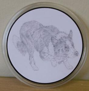 Border-Collie-Keyrings-amp-Coasters-Unique-Drawn-designs