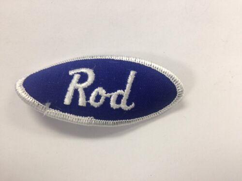 Rod Uniform Shirt Jacket VTG USA Name Patch