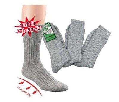 6 Paar Norweger-Socken - Schafwolle, Frotteesohle, Gr. 35-53