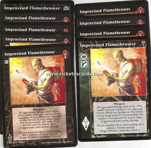 Improvised Flamethrower x9 BL 3rd Ed LoB VTES Jyhad