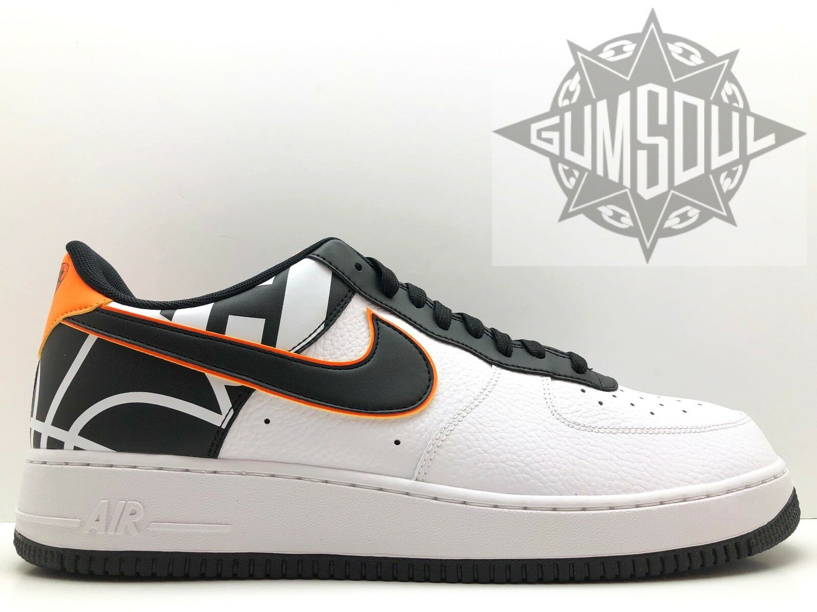 Wild casual shoes NIKE AIR FORCE 1 '07 LV8 LOGO PACK WHITE BLACK ORANGE 823511 104 Price reduction