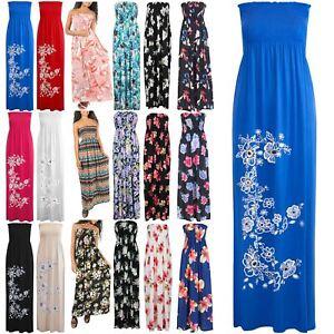 600b200db0 Image is loading Womens-Ladies-Floral-Printed-Sheering-Gathered-Boobtube -Bandeau-