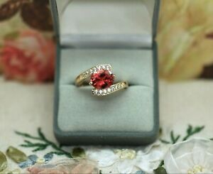 Art-Deco-Vintage-Jewellery-Ring-Garnet-And-White-Sapphires-Antique-Dress-Jewelry