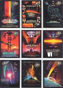 Star-Trek-Cinema-2000-Movie-Poster-9-Chase-Card-Set-P1-to-P9