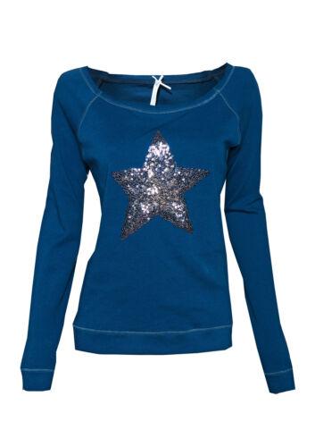 """M /%/%  LOUIS /& LOUISA /"""" Stern /"""" Pailletten-Sweatshirt blau Gr XL NEU  /%/%"""