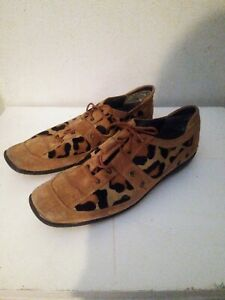 Stuart-Weitzman-Brown-Suede-Leopard-Cheetah-Pony-Mane-Shoes-Women-039-s-US-7-5