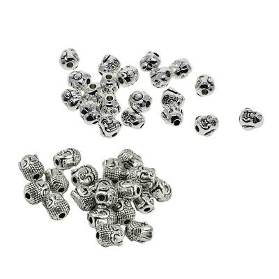 10 Pieces Buddha Spiritual Metal Beads Spacer for Jewelry Making Bracelet