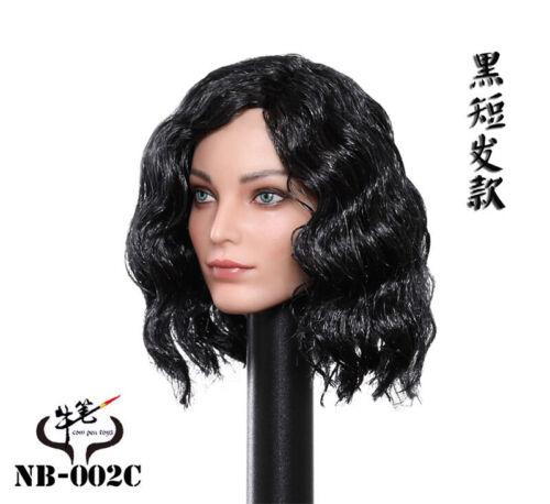 Black Short Hair Emma Polaris Head Sculpt 1//6 Scale Female Soldier Action Figure